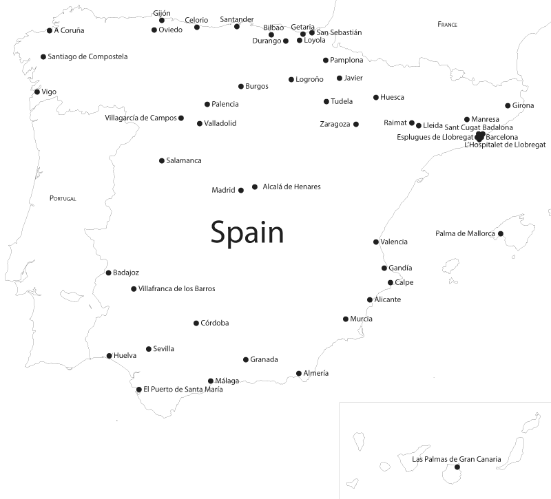 Loyola Spain Map.Sj Europe News